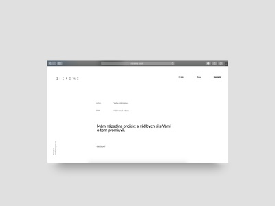 Contact form (website agency) website design web agency design clean design webdesign website minimalist rakowski rakowski studio web