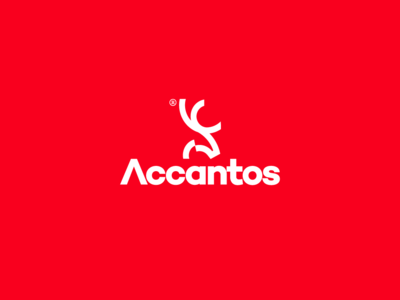 Accantos deer iconic sport bold simple clean graphic  design logo design logo