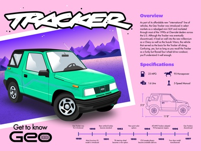 Tracker Infographic car infographic texture illustrator illustration