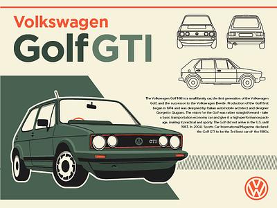 GTI Infographic illustration vintage infographic 1983 gti volkswagen car