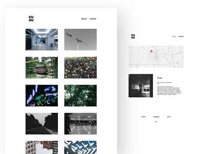 portfolio self promo desktop photography minimal