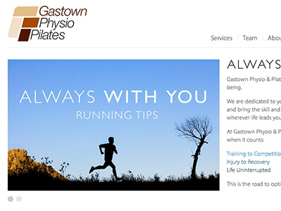 Gastown Physio & Pilates vancouver minimal simple clean