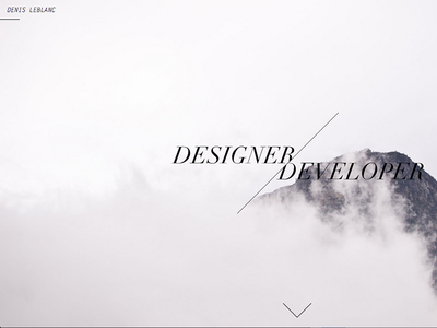 New personal website design minimal white black simple