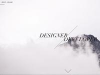 New personal website design