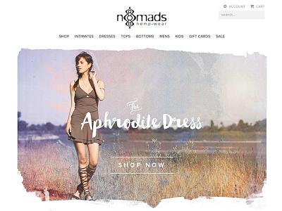 Nomads Hemp Wear redesign minimal hemp clothing fashion ecommerce