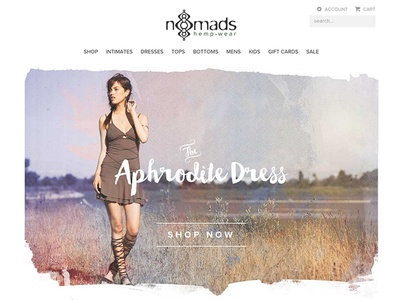 Nomads Hemp Wear redesign minimal hemp clothing fashion ecommerce