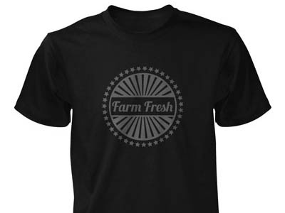 Farm Fresh skateboard clothing black and white crest