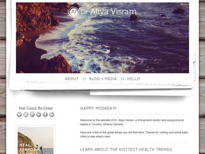 Dr. Aliya Visram texture minimal chiropractor