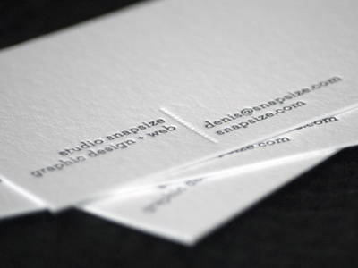 Business Cards from Brixx Letterpress letterpress minimal black and white clean simple business cards