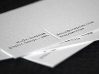 Business Cards from Brixx Letterpress