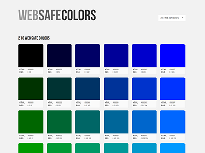 Web Safe Colors web safe colors minimal design resource responsive