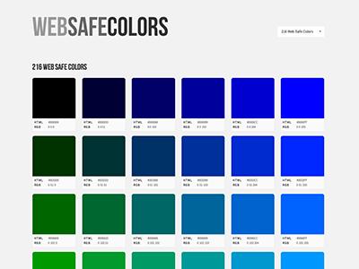 Web Safe Colors web safe colors minimal design resource responsive