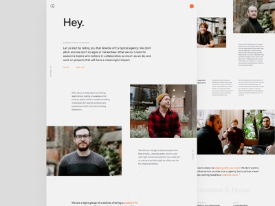 Gravita — About ux ui web design website typogaphy about about page about us agency website minimal clean design agency