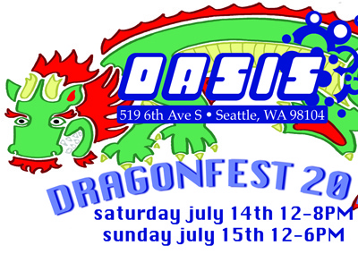 Oasis DragonFest Ad dragon seattle bubble tea oasis