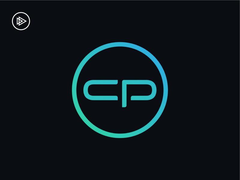 Content Platform Logo gradient design monogram typeography type branding logo design logo