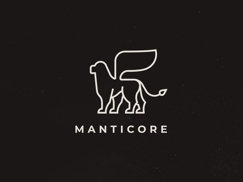 Manticore Team Logo team branding line art lineart line manticore illustration logo design
