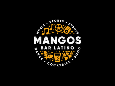 Mangos Logo mangos mango branding logotype logos logo fiesta latin america cuban bar food cocktails dance events sports music musical musica latino latin