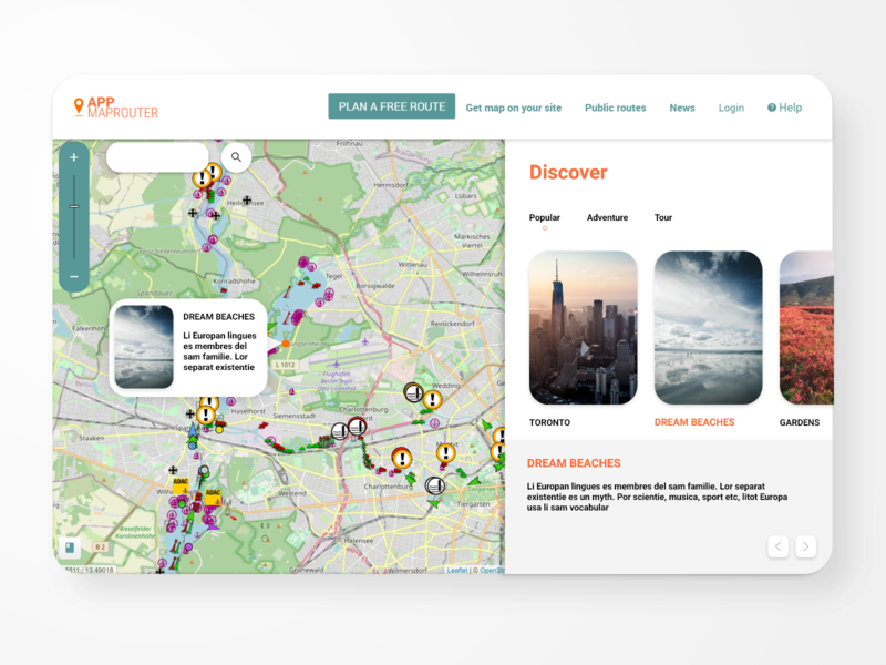 Map Router ui website app web ux