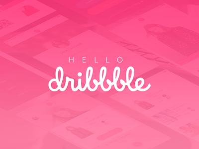 Hello dribbble hello first dribbble