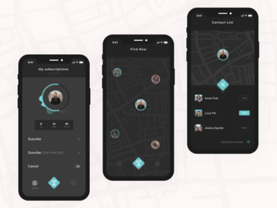 Findfa App uiux designapp application appmap uidesign dribbble map app chat ux design clean ui