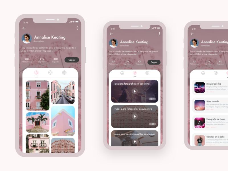 Profile design design uiux uidesign dribbble application app clean ui