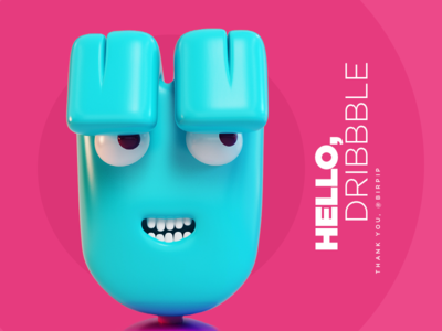Hello  Dribbble tinge invitation debut dribbble hello 3d