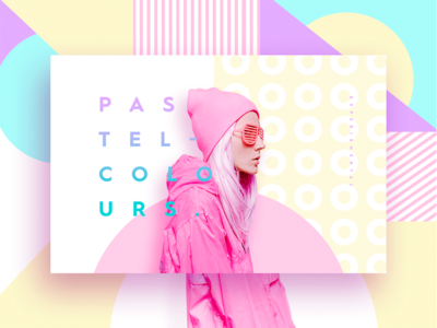 Pastel Colours design pastel colours web ui ux pop modern art