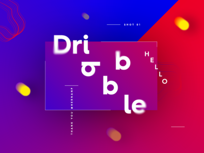 Hello Dribbble! dribbble hello design experimentation player colors shot firstshot harmony