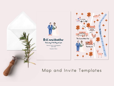 Make your own wedding invite and map template adobeillustator ink vectorartwork vector illustration art map wedding card wedding invitation invite wedding