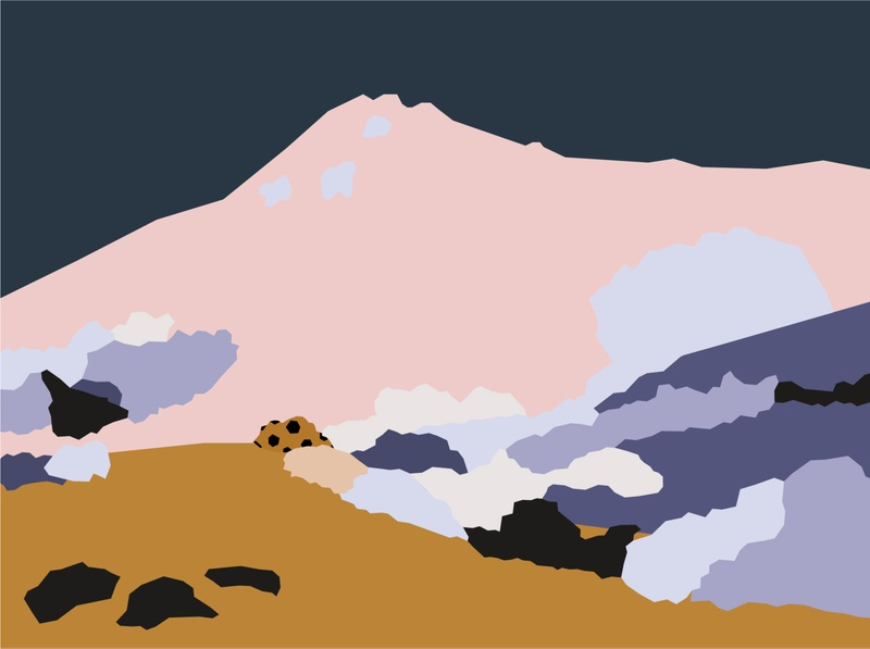 landscape modern vector art contemporary abstract colours vectorart vector mountain african africa illustration illustrator landscape