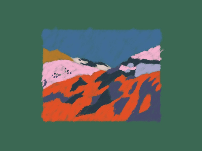 Mountainscape mountains artwork illustration