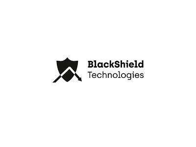 BlackShield Technologies black  white technology tech arrow shield black design geometric vector logo