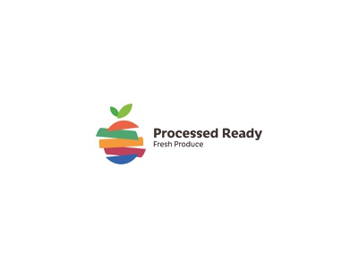 Processed colorfull vector logo vegetable fruit