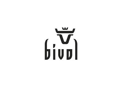 BIVOL cow branding geometric vector logo crown bull