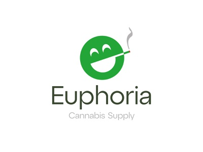 Euphoria e logo smoke joint smile euphoria weed cannabis