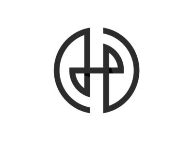 EH/HE ambigram monogram geometric vector logo round logo ambigram e h he eh