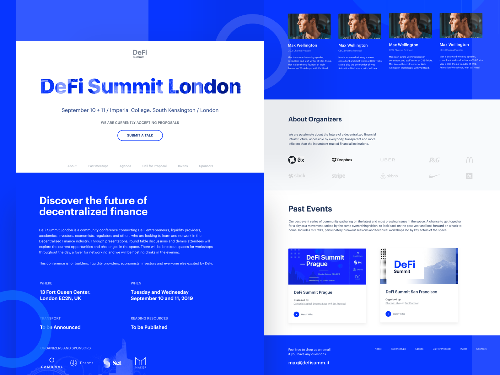 London DeFi Summit event cryptocurrency finance logo landing page blockchain