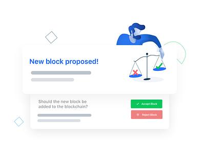 Block Proposal design illustration blockchain