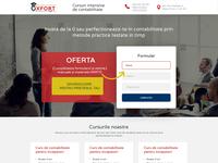oxfort - Finance Courses - Landing Page