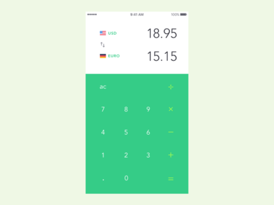 Daily UI #004 currency converter calculator minimalistic daily ui challenge