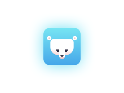 Daily UI #005 app illustration ice polar bear blue challenge daily ui