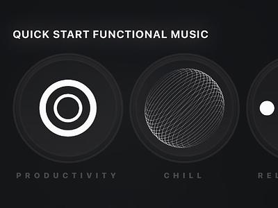 Animated Shortcuts on Ultrahuman iphone branding music ios design black app motion animated ui