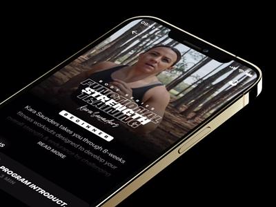 Series Details - Ultrahuman fitness sport ultrahuman content catalog crossfit workout app workout black branding design app video