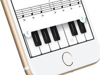 Flat Piano Keyboard