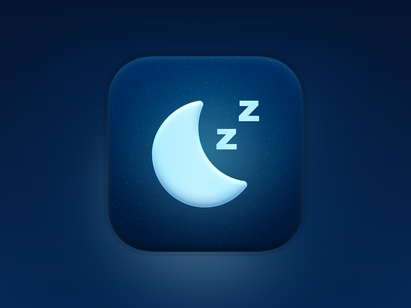 Nnight AppIcon apple moon night sleep app icon design app icons app icon branding illustration icon iphone app ios design ux flat ui