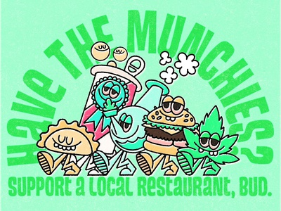 Have the munchies? munchies 420 illustration