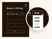 Book a fitting form UX/UI