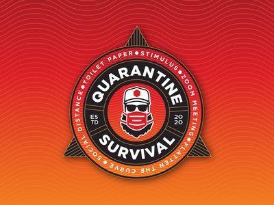Quarantine Survival Badge vector logo type typography badge