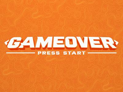 <GAMEOVER> badge vector typography type logo