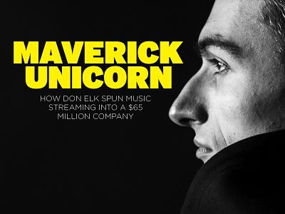 Maverick Unicorn cover magazine layout design typography type